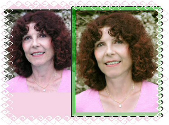 Photo Restoratopm amd Retouch - Geri 10 years younger - Photo Restoration by SmileDogProductions.com