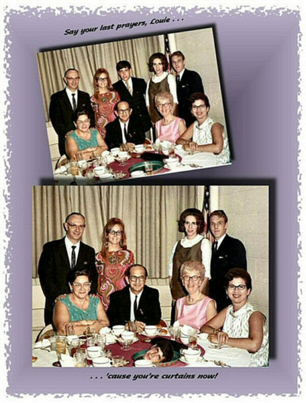 Photo Restoration, Restore and Retouch. Remove Person from Photo - Barry & Kirsten - Photo Restore by SmileDogProductions.com