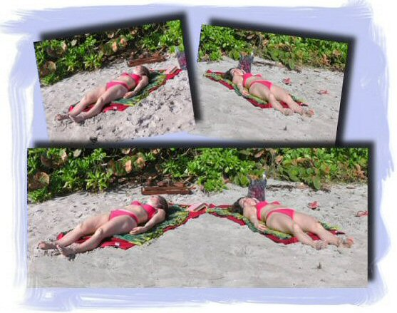Photo Restoration, Restore and Retouch. Photo Manipulation - Ulla at beach - Photo Restore by SmileDogProductions.com