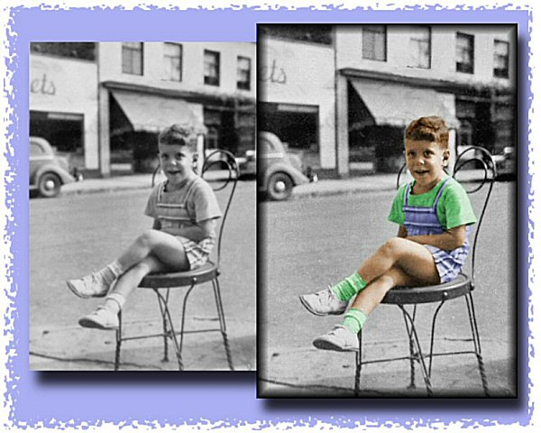 Photo Restoration, Restore and Retouch. Colorize Photo - add accent colors, Barry - Photo Restoration by SmileDogProductions.com