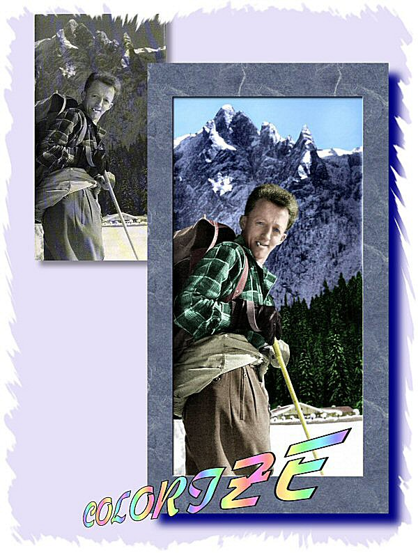 Photo Restoration, Restore and Retouch. Colorize Photeo - add full color to black and white photo