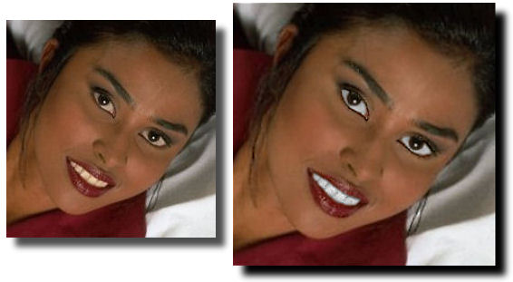 Photo Restoration, Restore and Retouch - whiten teeth and eyes - Photo Restoration by SmileDogProductions.com