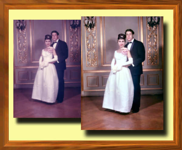 Photo Restoration and Clarification - remove red cast from Prom photo - Photo Restoration by SmileDogProductions.com